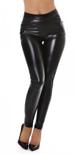 Sexy Faux Leather Leggings patent look