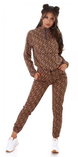 Sexy Set Anzug mit Print