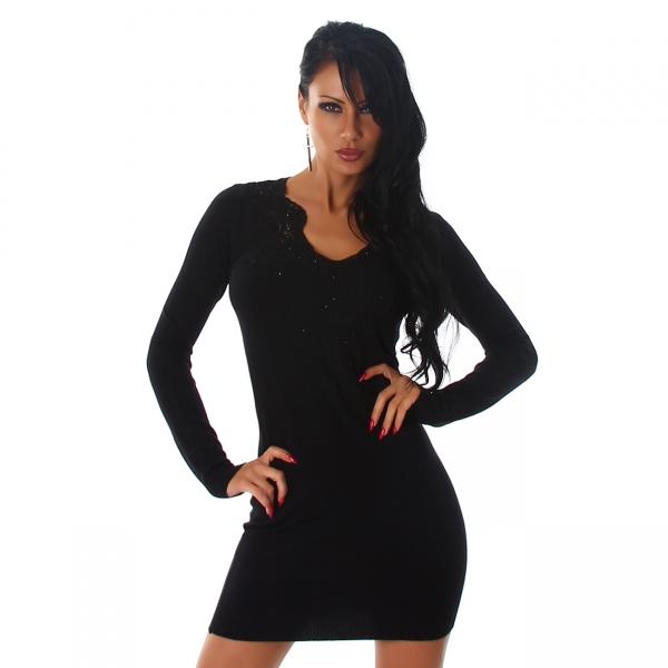 Sexy Strickkleid V-Ausschnitt